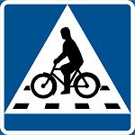 Skylt Cykelöverfart