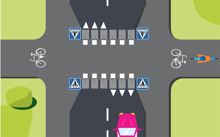 Cykelöverfart Trafikstyrelsen