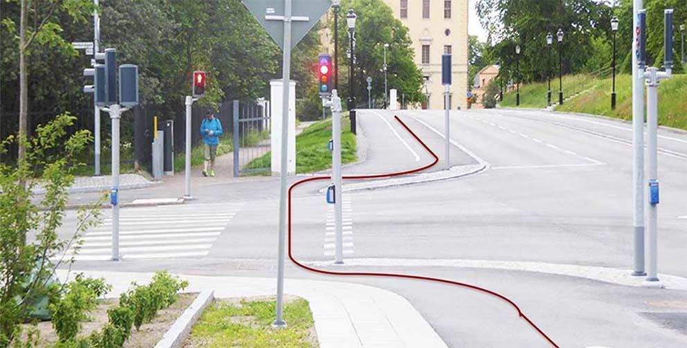 Krångligt att passera Norbyvägen