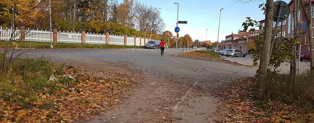 Cykelbanan på Banvallen vid Ekeby bruk
