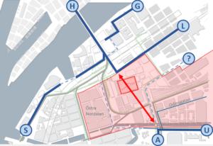 Centralenmorådet i Göteborg kan bli en barriär för cykling