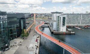 Cykelslangen är en cykelbro i Köpenhamn