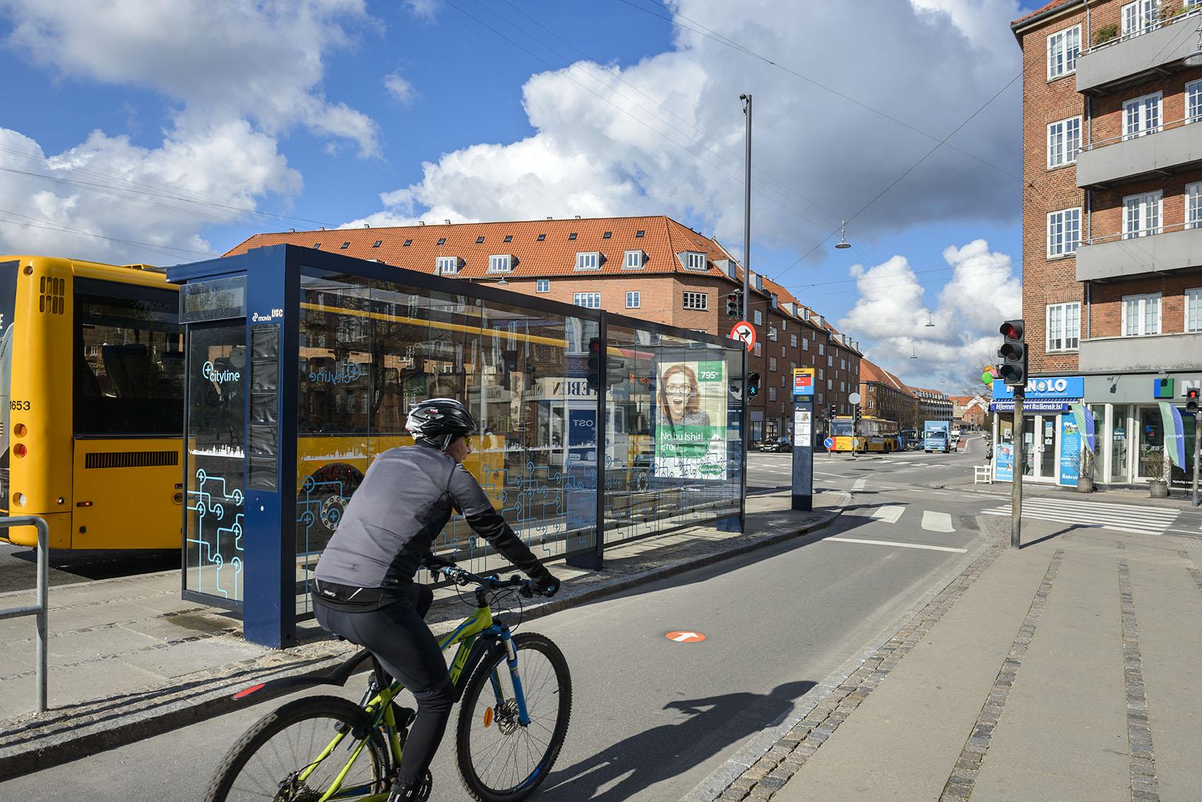 Tydlig skyltning på cykelsupersti i Köpenhamn