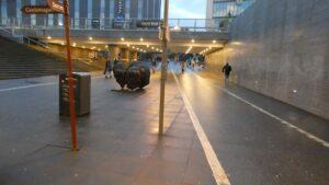 Gång- och cykeltunnel under Uppsala Central
