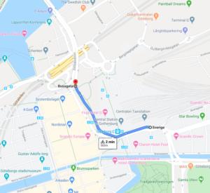 Förbi Göteborgs Centralstation