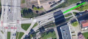 Möjlig ny cykelbana längs Hjalmar Brantingsgatan