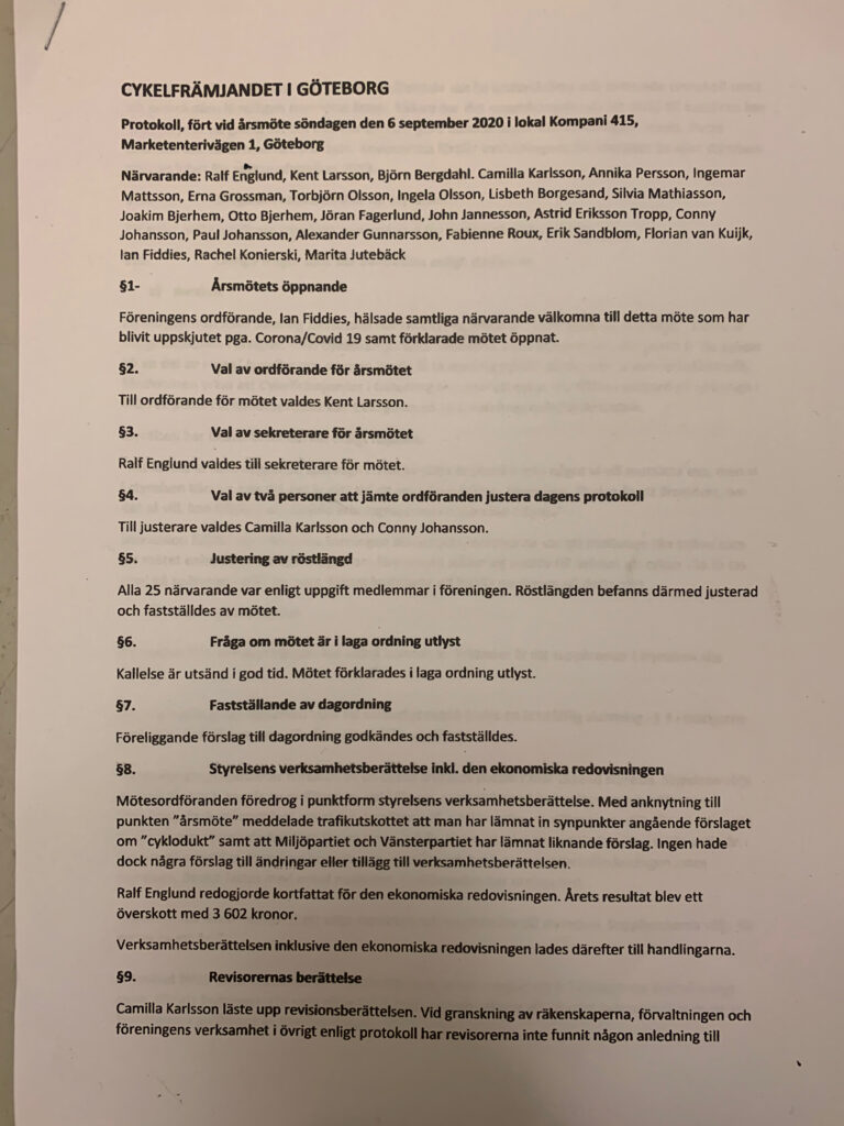 årsmöte protokoll gbg 1