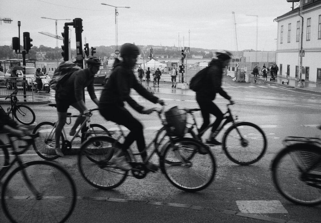 Cyklister i rusningstid